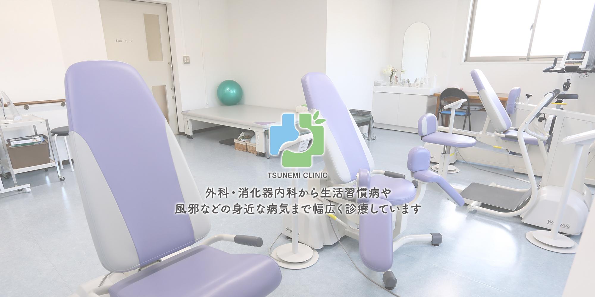 外科・消化器内科から生活習慣病や風邪などの身近な病気まで幅広く診療しています